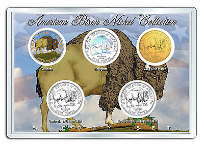 5 2005 BUFFALO BISON NICKELS BOXES 400 U.S COINS IN SEALED U.S MINT WRAPPERS