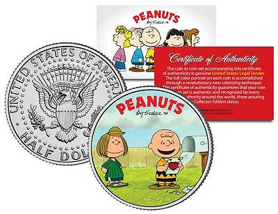 PEANUTS Valentines * CHARLIE BROWN & PEPPERMINT PATTY * JFK Half Dollar US Coin