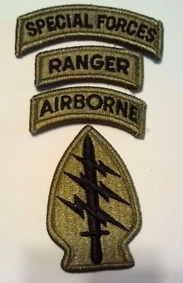 Special Forces OCP Patch Special Forces Ranger, Airborne Tab W/fastener