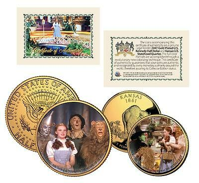 THE WIZARD OF OZ 24K Gold U.S. Legal Tender 2-Coin Set *Officially Licensed*