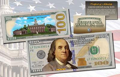 *MUST SEE* Genuine Legal Tender COLORIZED 2-Sided NEW $100 One-Hundred U.S Bill