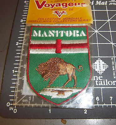 Manitoba Canada embroidered patch - Unused in package - by Voyager Emblems 1970s