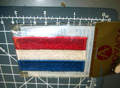 Holland Flag embroidered patch -unused in package by Voyager Emblems 1970s