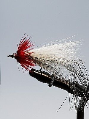 3QTY FLASHTAIL  WHISTLER  RED/YELLOW Fly Fishing Flies size 3/0