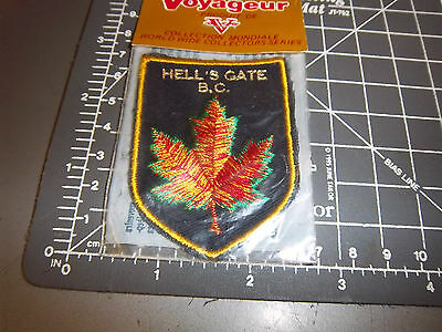 Hells Gate British Columbia Canada embroidered Patch , Beautiful Leaf!