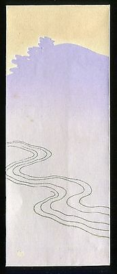 Japanese woodblock print art deco antique Envelope Meiji - Taisho era(-1935)
