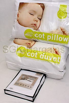 7.5T Baby Cot Bed Duvet  Anti Allergy + Pillow + Waterproof Matress Protector