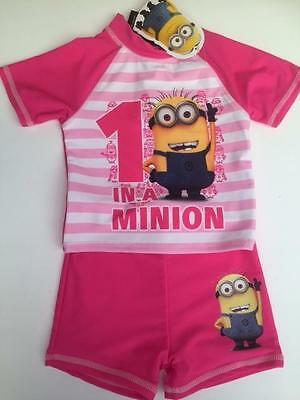 New Girls DESPICABLE ME MINION SURF SET in Pink Various Sizes BNWT