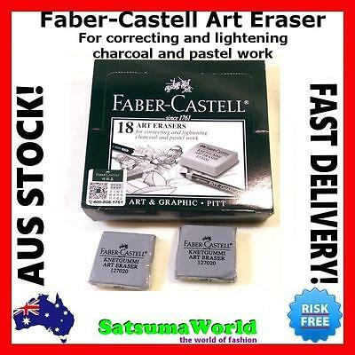 3x FABER CASTELL Kneadable Art Eraser knetgummi correcting charcoal pastel new