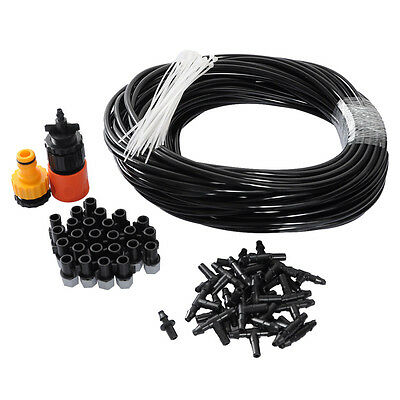 25m Garden Plants Irrigation Patio Misting Cooling System 25 Micro Sprinkler Kit