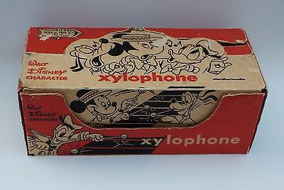 Walt Disney Character Xylophone Unused Antique Vintage 1950s