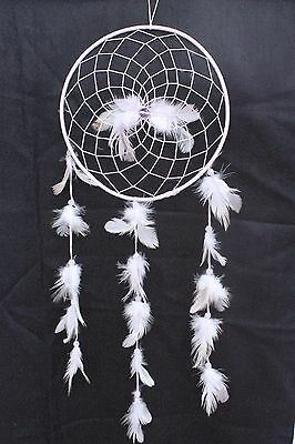 Large White Dream Catcher Handmade String Feather Car Wall Home Decor ( QTY 2 )