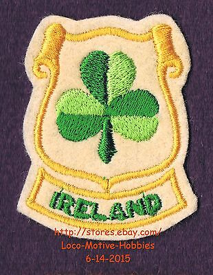 LMH PATCH Felt Badge  IRELAND Irish  SHAMROCK CLOVER  Crest Three Leaf  Symbol