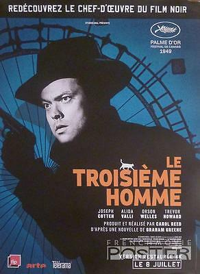The Third Man - Welles / Reed / Cotten - Reissue Small French Movie Poster