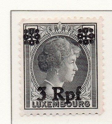Luxembourg 1940 Early Occupation Issue Fine Mint Hinged 3Rpf. Surcharged 150872