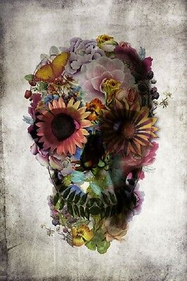 (LAMINATED) DOD FLOWER SKULL DAY OF THE DEAD POSTER (61x91cm)  PICTURE PRINT NEW