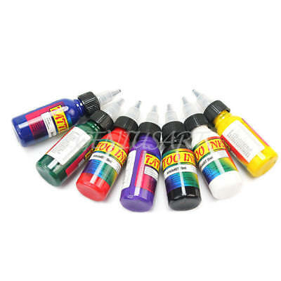 30ml (1oz) Unit Tattoo Inks Pigment Lining Shading Set 7 Color for Body Art