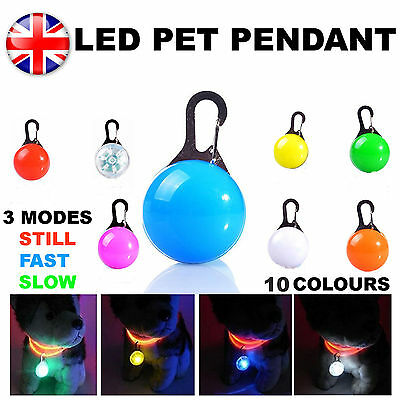 LED Safety Dog Cat Night Light Flashing Colour Buckle Collar Pet Luminous Bright