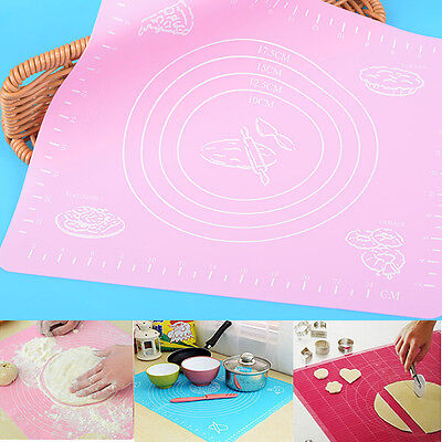 Silicone Fondant Clay Pastry Icing Dough Cake Tool Sugarcraft Rolling Cut Mat