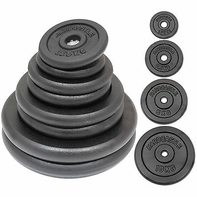 """Heavy Duty Cast Iron Standard 1"""" Home Gym Weight/plates/discs Training/lifting"""