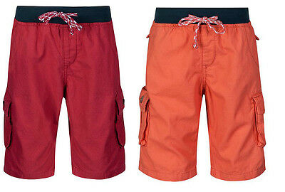 Boys Cargo Shorts Kids Elasticated Waistband Cotton Pull On Casual Short