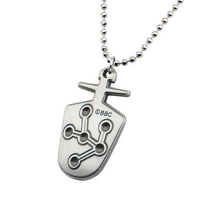 NEW Licensed Doctor Who 8th Doctor Key Two-Sided Stainless Pendant Necklace