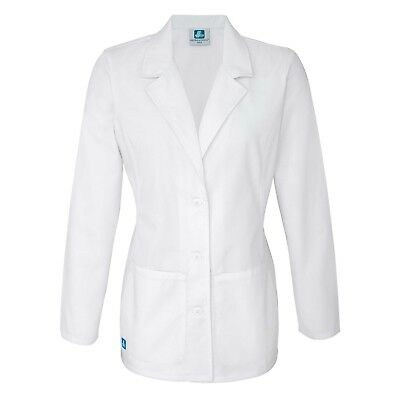 Adar Women Medical Uniform 4 Button Lapel Collar Medical Nurse Consultation Coat