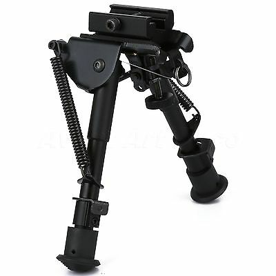 "6"" - 9"" Adjustable Spring Swivel Bipod for Rifle with 20mm Picatinny Rail Mount"