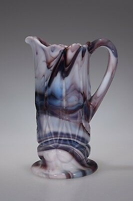 1962 - 1967 No. 981 OLDEN by Imperial Glass PUPLE SLAG Handled Pitcher / Creamer