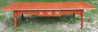 Vintage Cherry? Rectangle Coffee Table w/Leaf Dovetail Drawer