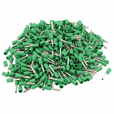 470pcs Wire Crimp Connector Pin End Insulated Terminal Green for Cable AWG 18