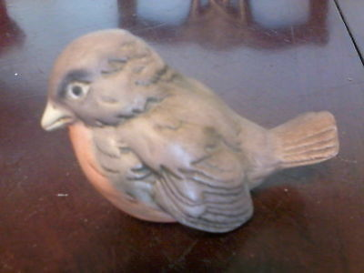 "2.25 "" tall porcelain robin figurine"