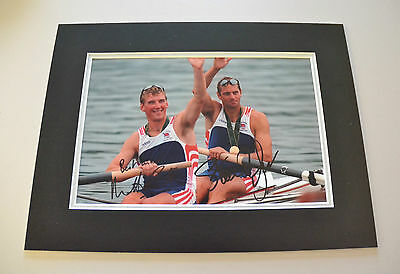 Sir Steve Redgrave & Sir Matthew Pinsent Signed 16x12 Photo Autograph Display