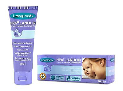 Lansinoh HPA Lanolin Sore Nipples Cream 40ml - 2 Pack