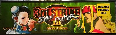 "Street Fighter 3rd (Third) Strike Arcade Marquee 26""x8"""