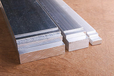 ALUMINIUM Solid Flat Bar ALL WIDTHS and THICKNESSES 300mm LONG 6060-T5