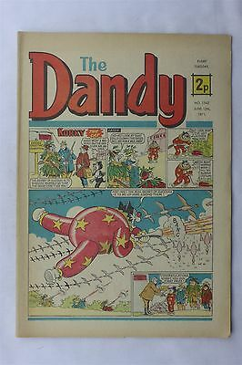 The Dandy 1542 June 12th 1971 Vintage UK Comic Korky The Cat Desperate Dan
