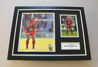 Jonny Wilkinson Signed Framed 16x12 Photo Autograph Display Rugby Memorabilia