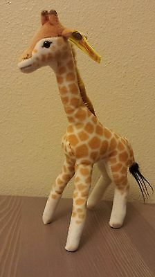 """Steiff Giraffe w. Button and Flag Vintage 1975 Made in Germany 11"""""""