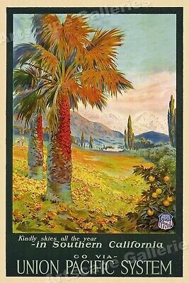 Union Pacific Southern California 1930s Vintage Style Travel Poster - 16x24
