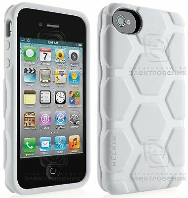 iPhone 4 4S Case Belkin Hard Cover White Tortoise Hexagon Sleeve Joblot Wholesal