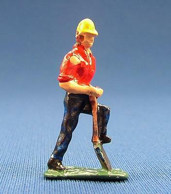 Pewter Railroad Figure People Track Worker Digging Nos S Scale Train Layouts