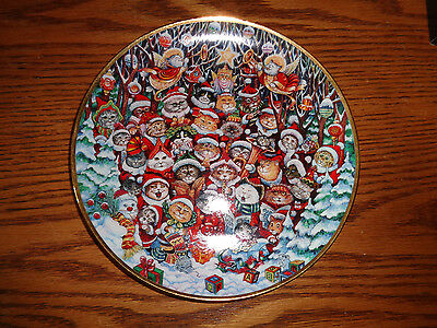 Santa Claws - Franklin Mint - Holiday Cat Collectible Plate