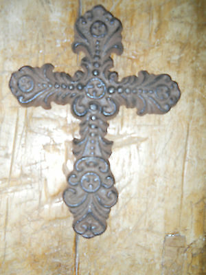 Cast Iron Victorian Style RELIGIOUS CROSS  Rustic Ranch Western  #21