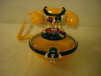 M&m's Yellow Candy Dish Push Button Phone Telephone