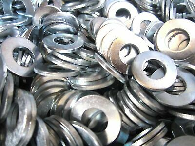 (500) 3/8 Sae Flat Washer Zinc Plated 500 Pieces