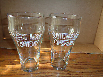 2 - Southern Comfort - Beer - Cocktail Glasses