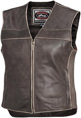 River Road Womens Drifter Leather Vest 2014