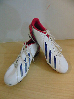 Soccer Shoes Cleats Ladies Size 8 USA Adidas F50 White Purple Black