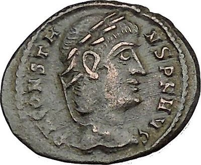Constans  Constantine the Great son Ancient Roman Coin Glory of Army i50704